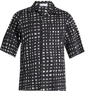 Raey Short-sleeved cotton-seersucker shirt