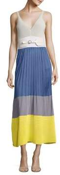 Agnona Knit Colorblock Dress