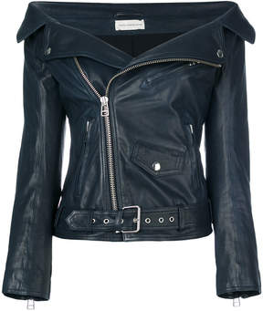 Faith Connexion off-shoulder leather jacket