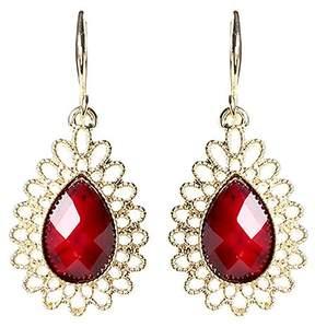 Amrita Singh Red & Goldtone Surf Lodge Drop Earrings