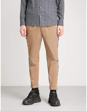 The Kooples Curb chain piped cotton chinos
