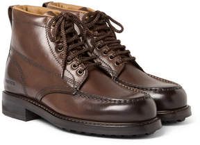 Tom Ford Burnished-Leather Hiking Boots