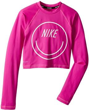 Nike Long Sleeve Crop Hydroguard Girl's Swimwear