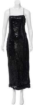 Christian Siriano Sequined Evening Gown