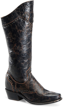 Sonora Black Shelli Leather Cowboy Boot