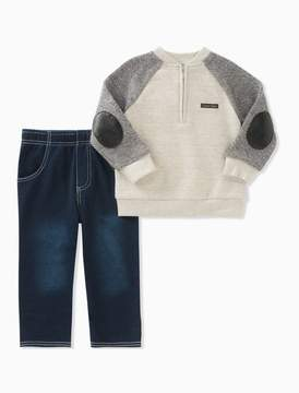 Calvin Klein baby boys 2-piece sweater + jeans set