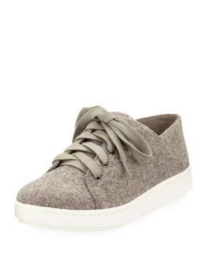 Eileen Fisher Clifton Felt Wool Lace-Up Low-Top Sneaker