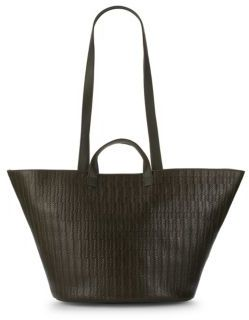 Meli-Melo Rosalia Basketweave Leather Tote