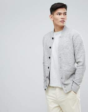 Esprit Wool Bomber With Chunky Rib