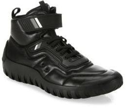 Prada Nappa Leather High-Top Sneakers