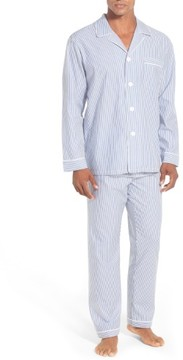 Majestic International Men's Big & Tall Stripe Cotton Pajamas