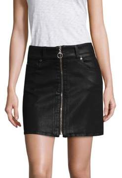 7 For All Mankind Bodycon Coated Mini Skirt