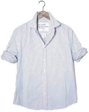 Frank And Eileen Mens Luke Italian Moleskin Striped Shirt