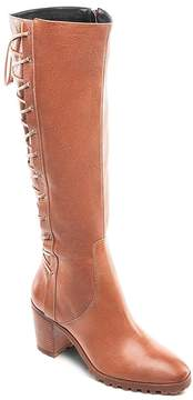 Bernardo Women's Tumbled Leather Tall Lace Up Boots