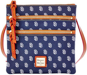 Dooney & Bourke San Diego Padres Triple Zip Crossbody Bag - NAVY - STYLE