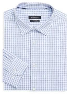 Bugatchi Shaped-Fit Check Dress Shirt