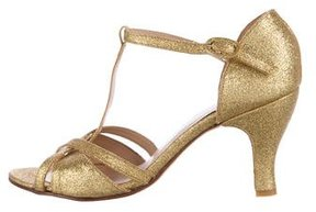 Repetto Glitter-Embellished Ankle-Strap Sandals