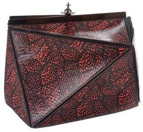 Vivienne Westwood Geometric Embossed Clutch