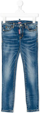 DSQUARED2 stonewashed skinny jeans