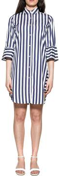 Xacus Blue/white Camilla Striped Dress