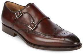 Saks Fifth Avenue by Magnanni Men's Leather Monk Strap Brogue Shoes