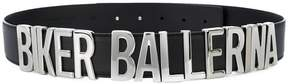 Moschino biker ballerina belt