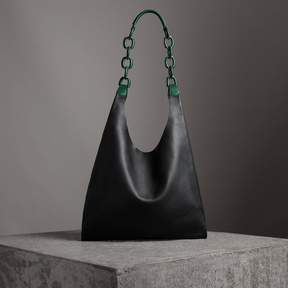 Burberry Medium Two-tone Leather Shopper