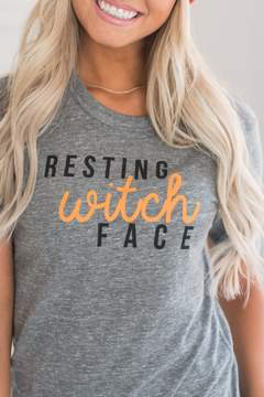 Ampersand Avenue Resting Witch Face Tee