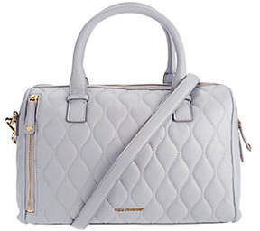 Vera Bradley As Is Quilted Leather Satchel - Marlo - ONE COLOR - STYLE