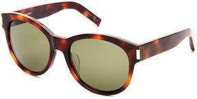 Saint Laurent Havana SL 67 Round Sunglasses
