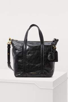 Vanessa Bruno Zipped leather tote bag