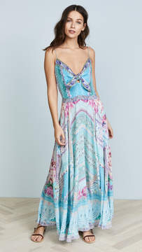 Camilla Garden State Tie Front Long Dress