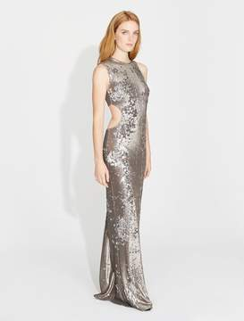 Halston Bi-Colored Sequins Cut Out Gown