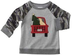 Mud Pie Camo Christmas Sweatshirt Boy's Sweatshirt