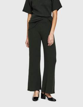 Creatures of Comfort Ribbed K-Wave Pant in Dark Olive