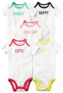 Carter's Baby Girls' Multi-PK Bodysuits