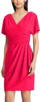 Chaps Petite Surplice Faux-Wrap Dress