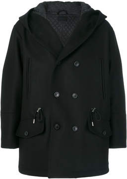 Diesel Black Gold double breasted hooded coat