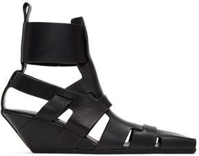 Rick Owens Black Lazarus Gladiator Sandals
