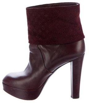 Louis Vuitton Monogram Platform Ankle Boots
