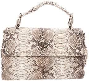 Philipp Plein Beige Leather Handbag