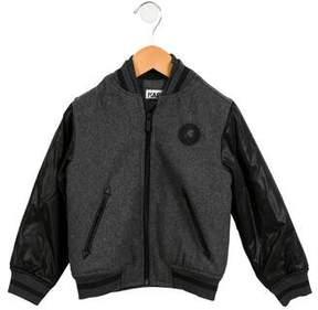 Karl Lagerfeld Boys' Wool-Blend Bomber Jacket w/ Tags