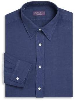 Ralph Lauren Purple Label Regular-Fit Silk & Linen Dress Shirt