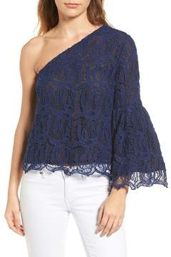 Chelsea28 One-Shoulder Lace Blouse