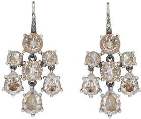 Bottega Veneta Silver Chandelier Zircon Earrings