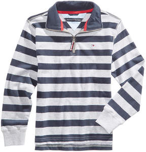 Tommy Hilfiger Striped Cotton Rugby Sweater, Little Boys (4-7)