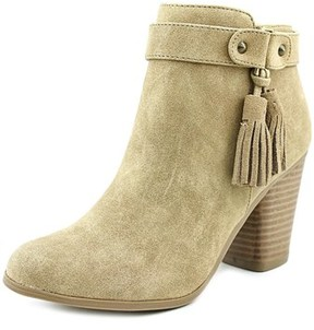 Material Girl Molly Women Round Toe Synthetic Tan Ankle Boot.