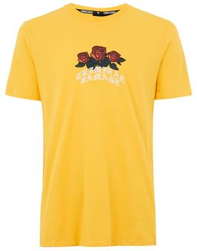 Criminal Damage Yellow 'Crown' T-Shirt