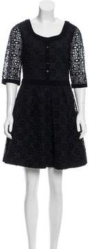 ALICE by Temperley Eyelet-Accented Mini Dress