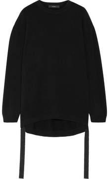 Ellery Pantomine Grosgrain-trimmed Cashmere Sweater - Black